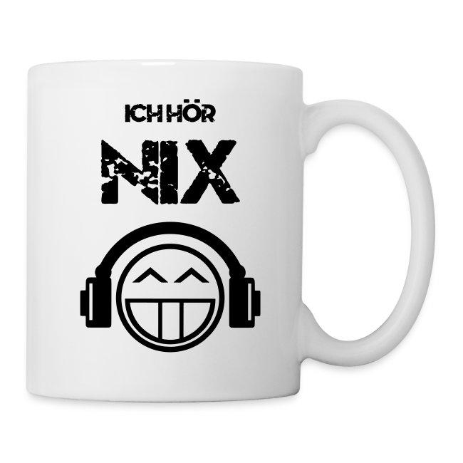 Die offizielle Friedrich Nix Tasse in weiß - Ich hör Nix!