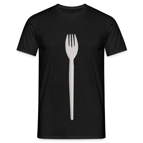 Plastik Gabel - Männer T-Shirt