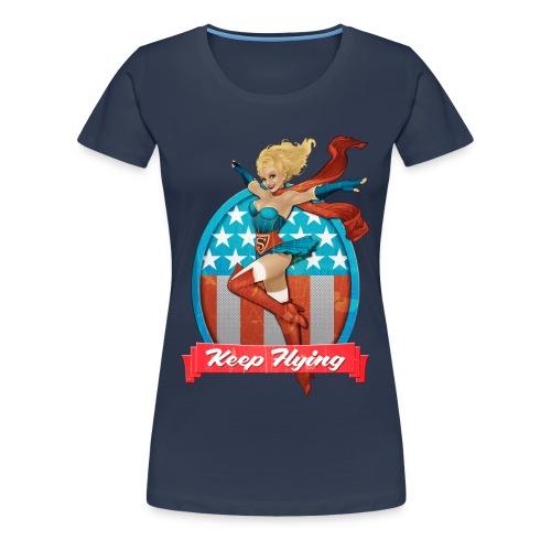 Bombshells Supergirl Frauen Premium T-Shirt - Frauen Premium T-Shirt