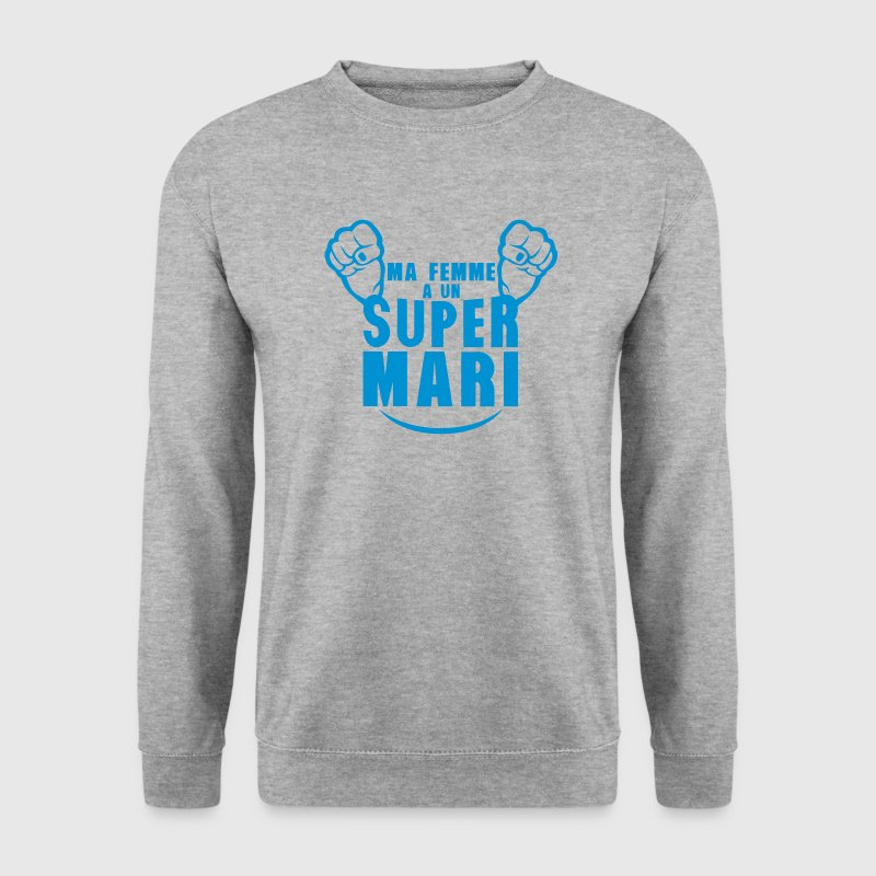 ma femme super mari poing fermer Sweat-shirts - Sweat-shirt Homme