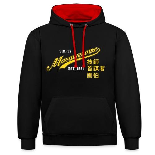 Macawesome Vintage Logo - Contrast hoodie