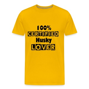 100% Certified Husky Lover - Men's Premium T-Shirt