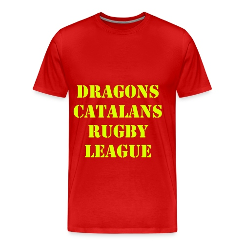 TEE SHIRT DRAGONS CATALANS RUGBY LEAGUE -XIII - T-shirt Premium Homme