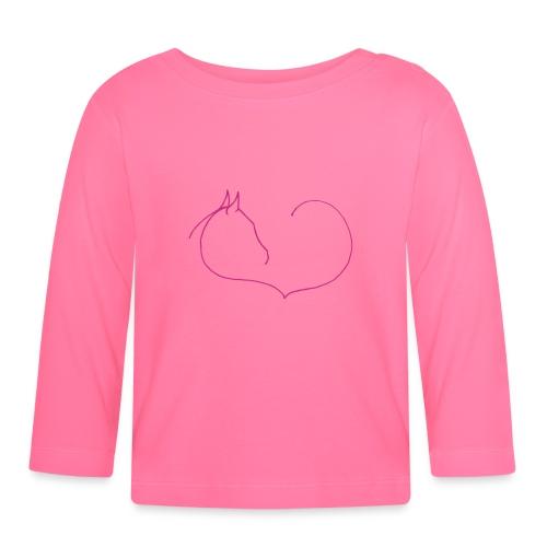 Horseheart- Baby-Langarmshirt (Print:pink) - Baby Langarmshirt