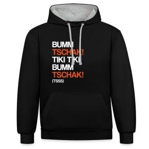 Bumm Tschak! - Hoodie - Kontrast-Hoodie