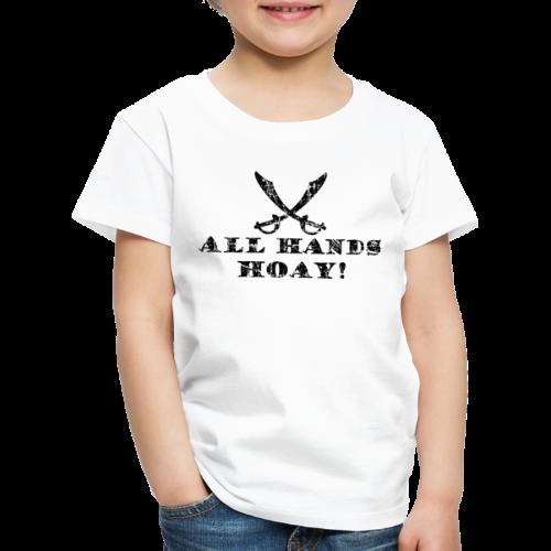 All Hands Hoay Piraten T-Shirt (Kinder/Weiß) - Kinder Premium T-Shirt