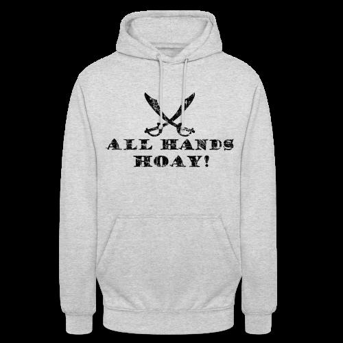 All Hands Hoay Piraten Hoodie (Grau) - Unisex Hoodie