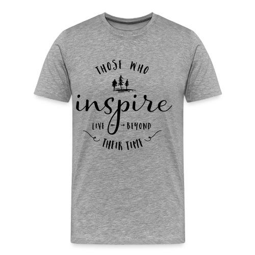 Typografie: Inspire - Männer Premium T-Shirt