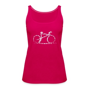 Womens Bike Vest Top Bike Chain  - Women's Premium Tank Top