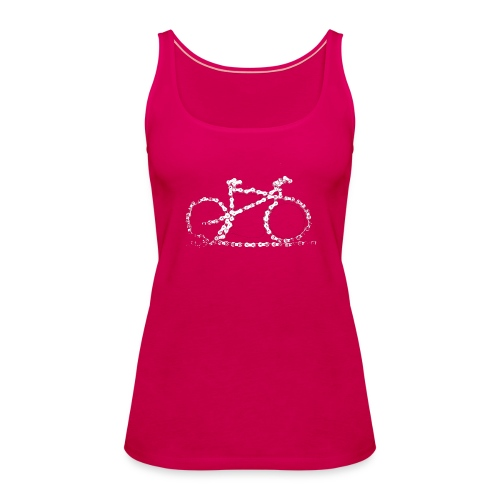 Womens Bike Vest Top Bike Chain  - Women's Premium Tank Top