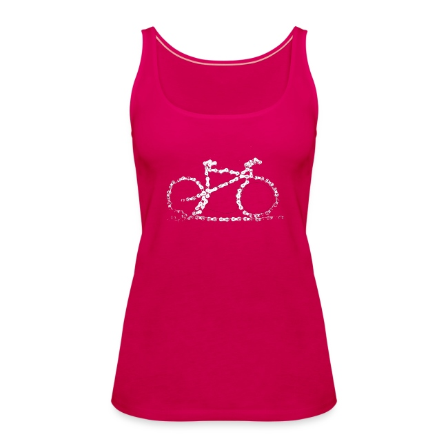 "Womens Bike Vest Top ""Bike Chain"""
