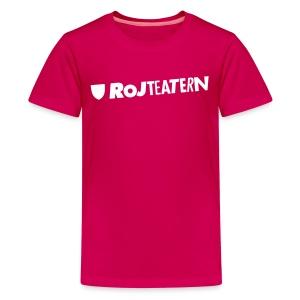 T-shirt herr logga rosa/svart - Premium-T-shirt tonåring