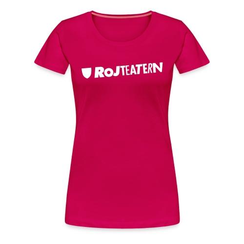 T-shirt dam logga rosa/svart - Premium-T-shirt dam