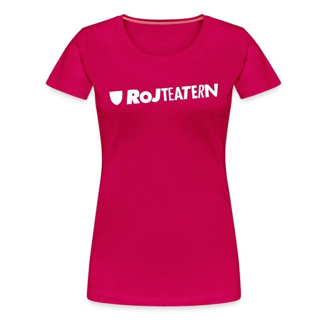 T-shirt dam logga rosa/svart