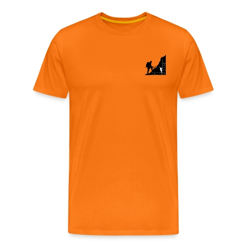 Berg Heil On Top Outdoor Back Short Shirt - Männer Premium T-Shirt