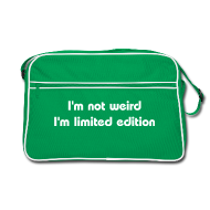 Borse & zaini ~ Borsa retrò ~ I'm not weird I'm limited edition - borsa geek retrò