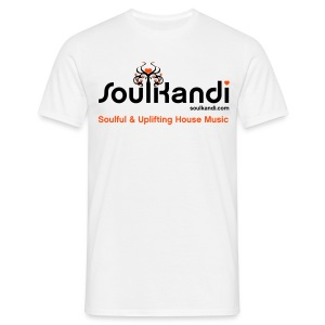 Men's Soul Kandi T-Shirt Black & Neon Orange Flex Print. - Men's T-Shirt