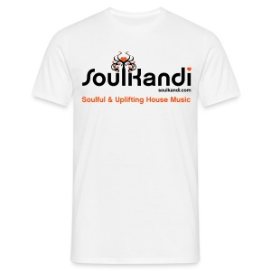 Soul Kandi T-Shirt Black & Orange Print. - Men's T-Shirt
