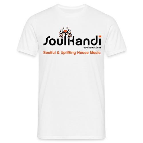 Soul Kandi T-Shirt Black & Orange Print. - Men's T-Shirt
