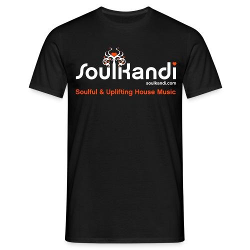 Soul Kandi T-Shirt White & Orange Print. - Men's T-Shirt