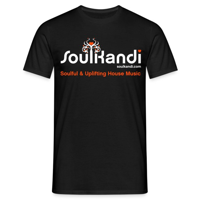 Soul Kandi T-Shirt White & Orange Print.