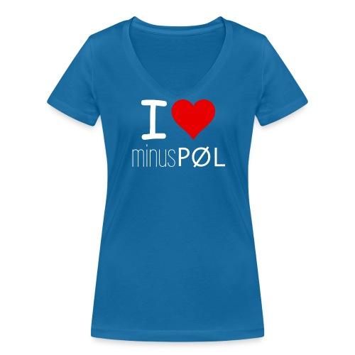 I love minusPØL Shirt Frauen - Frauen Bio-T-Shirt mit V-Ausschnitt von Stanley & Stella