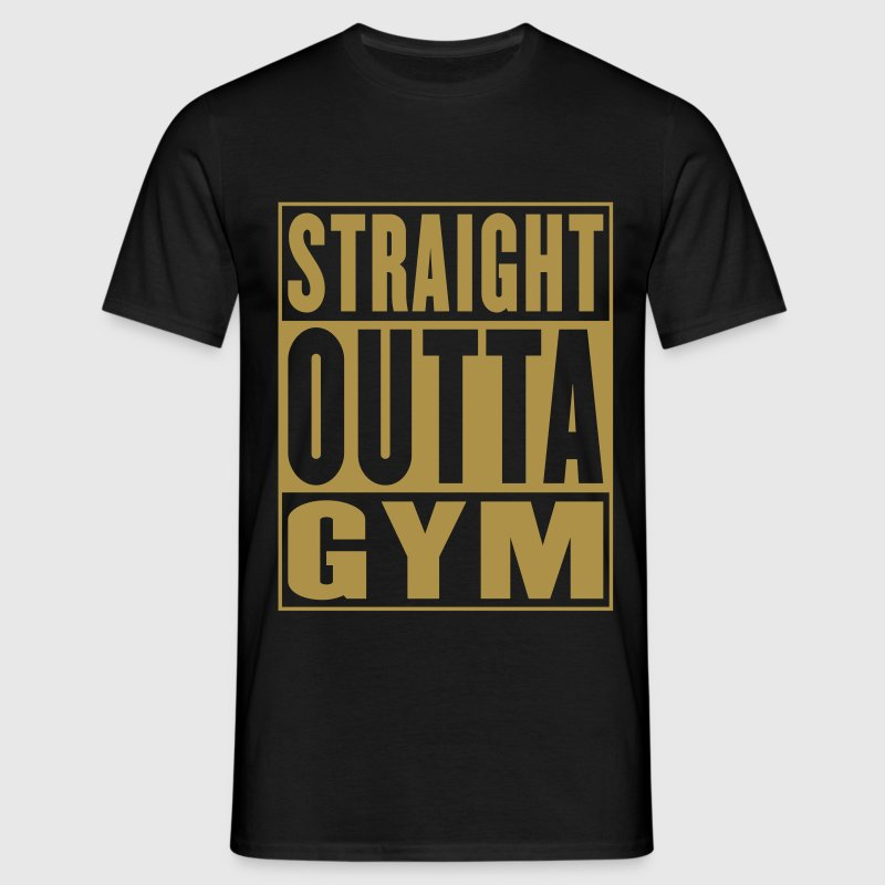 Straight Outta Gym Gold - Men's T-Shirt