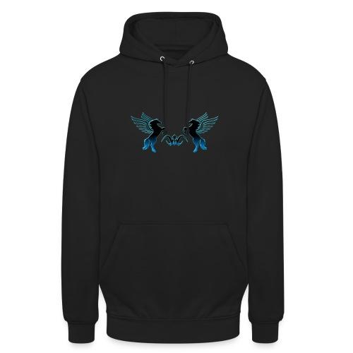Sweat à capuche Pégases noirs - Sweat-shirt à capuche unisexe