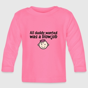 All daddy wanted - girl - 3-6 mdr. - Langærmet babyshirt