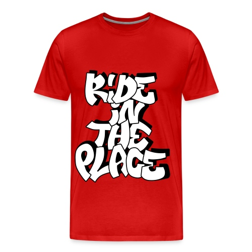 TeeShirt Ride In The Place Graff Rouge - T-shirt Premium Homme