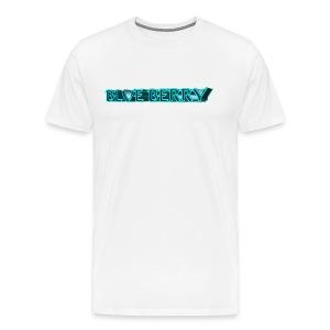 TSHIRT BLANC HOMME BLUE BERRY - T-shirt Premium Homme