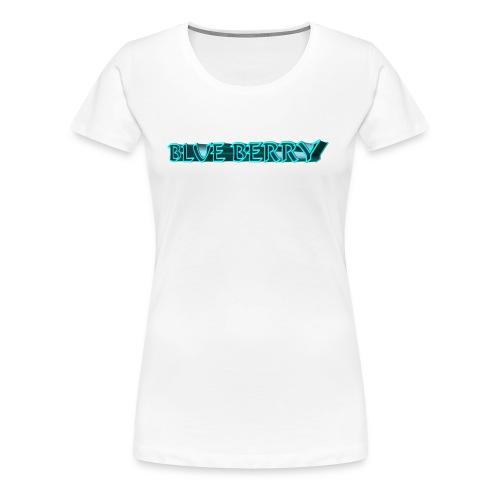 TSHIRT BLANC FEMME BLUE BERRY - T-shirt Premium Femme