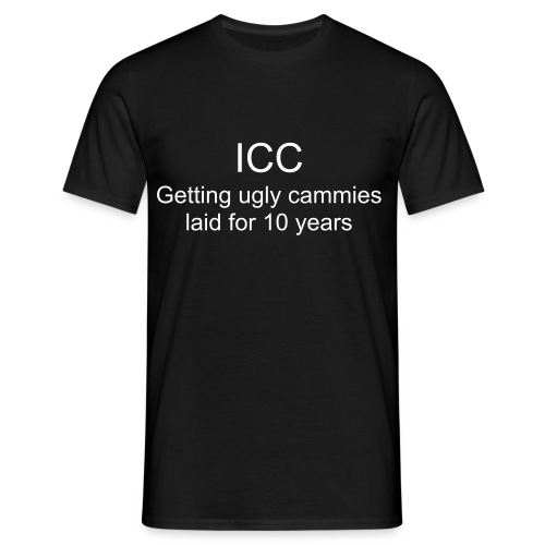 k: ICC: Getting ugly cammies laid for 10 years - Men's T-Shirt