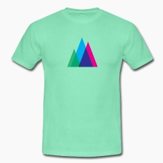 Abstract Mountains Symbol T-Shirts