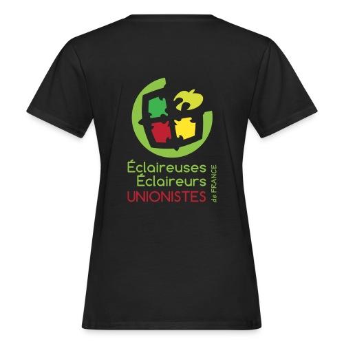T-shirt bio Femme - Différentes couleurs sont disponibles, cependant nous vous déconseillons les couleurs de tee-shirt identiques à celles présentent sur le logo des EEUdF.