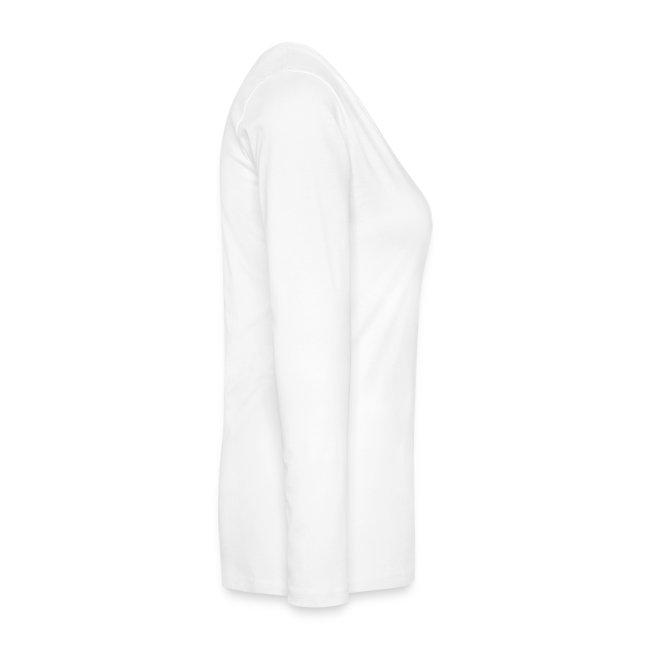 T-shirt manches longues Femme blanc logo noir