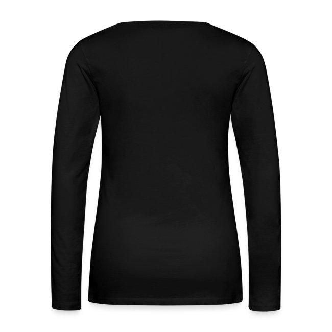 T-shirt manches longues Femme noir logo rose pale