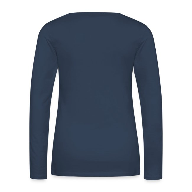 T-shirt manches longues Femme bleu logo blanc