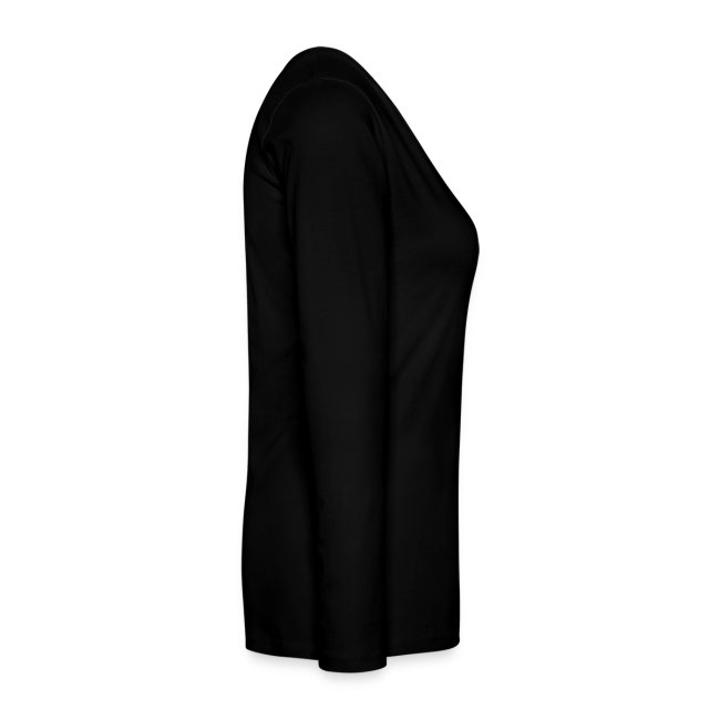 T-shirt manches longues Femme noir logo gris