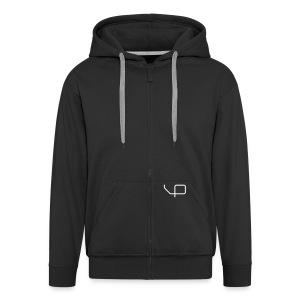 BP-hoodie man black - Männer Premium Kapuzenjacke