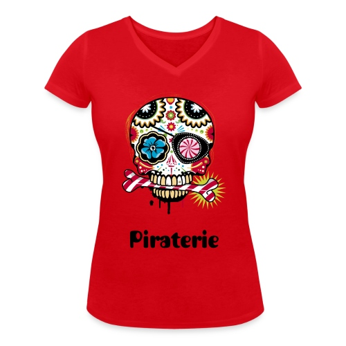 Expendable (Piraterie) - T-shirt bio col V Stanley & Stella Femme