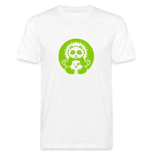 Panda Bio-T-Shirt mit Flexdruck (m) - Männer Bio-T-Shirt