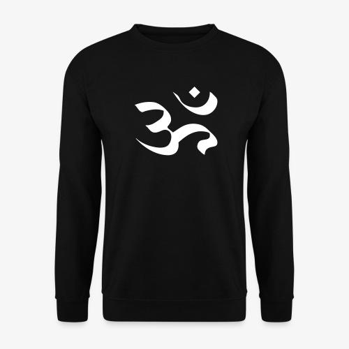 Männer Pullover - Om ist eine Silbe, die bei Hindus und Buddhisten als heilig gilt. Der Laut ist eng verbunden mit dem durchdringenden tiefen Klang des Shankha-Schneckenhorns. Bei vielen Mantren, die aus mehreren Wörtern bestehen, wird die Silbe Om vorangestellt.