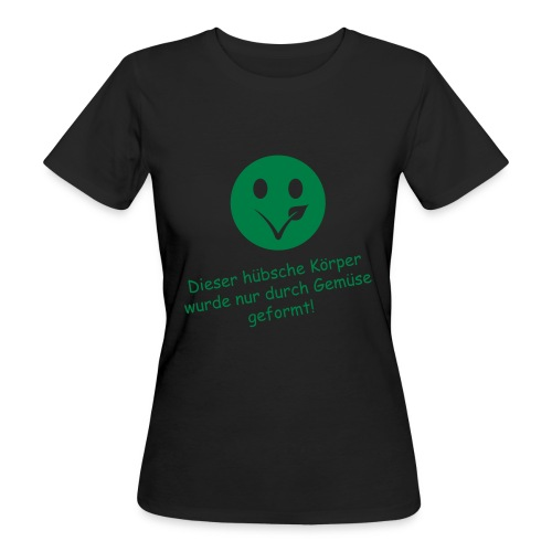 Smiley Bio-T-Shirt mit Flexdruck (w) - Frauen Bio-T-Shirt