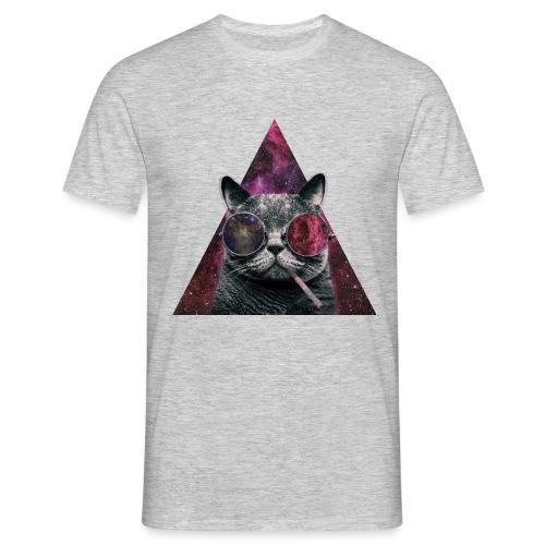 T-shirt homme hipster cat - T-shirt Homme