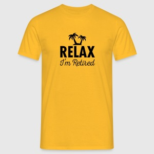 Relax - I'm Retired T-shirts - Herre-T-shirt