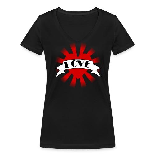 #Love Ladies - Frauen Bio-T-Shirt mit V-Ausschnitt von Stanley & Stella