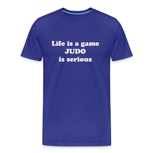 Life is a game Menn - Premium T-skjorte for menn