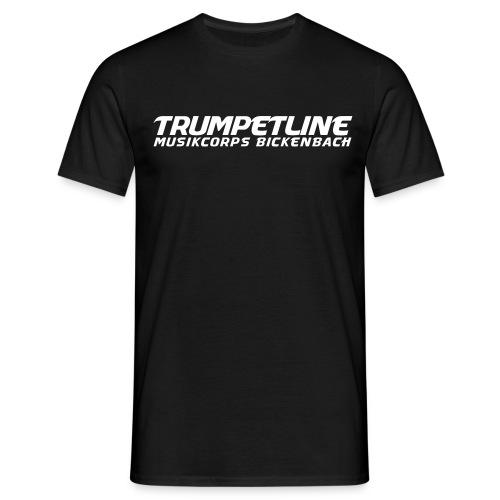 TRUMPETLINE T-SHIRT SCHWARZ - Männer T-Shirt