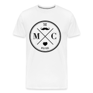 T-Shirts ~ Männer Premium T-Shirt ~ The Movember Moustache Club with pride T-Shirts